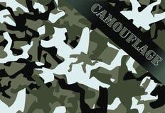 As forças armadas camuflam Imagens de Stock