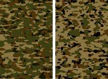 As forças armadas camuflam khaki Ilustração Stock