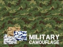 As forças armadas camuflam o teste padrão sem emenda Fotos de Stock