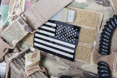 As forças armadas da bandeira americana remendam Foto de Stock