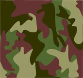 As forças armadas da floresta camuflam Fotos de Stock Royalty Free
