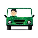 As forças armadas do carro projetam a condução de forças armadas Fotos de Stock
