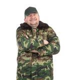 As forças armadas do trabalhador camuflam o revestimento do inverno Fotografia de Stock Royalty Free