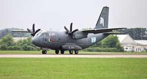 As forças armadas espartanos de C-27J transportam Fotografia de Stock