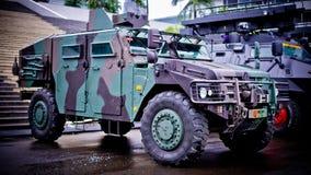 As forças armadas indonésias combatem o carro fotos de stock royalty free