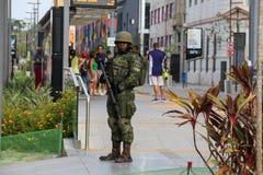 As forças armadas não reforçarão a segurança de Rio de janeiro Carnival fotografia de stock