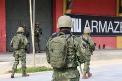 As forças armadas não reforçarão a segurança de Rio de janeiro Carnival imagens de stock royalty free