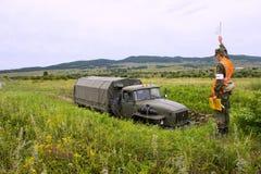 As forças armadas treinam motoristas Imagem de Stock
