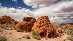 As formações de rocha da colmeia no vale do fogo Imagens de Stock