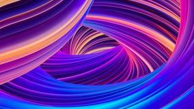 As formas líquidas holográficas abstratas no fundo do movimento para o Natal projetam ilustração stock
