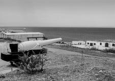 As fortificações do forte Rinella fotografia de stock