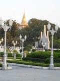 As fotos do parque do jardim em Banguecoque, Tailândia lá são muitos lugares interessantes tailandeses e turistas estrangeiros Ve imagem de stock