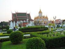 As fotos do parque do jardim em Banguecoque, Tailândia lá são muitos lugares interessantes tailandeses e turistas estrangeiros Ve foto de stock