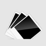 As fotos imediatas em branco do vetor vector o vetor Imagem de Stock