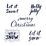 As frases caligráficas ajustaram-se pelo Natal e o ano novo Foto de Stock