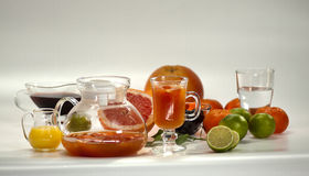 Ingredientes para cocktail não alcoólicos Imagem de Stock
