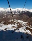 As gôndola levantam na estância de esqui de Rosa Khutor, Sochi, Rússia Imagens de Stock