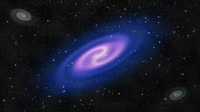 As galáxias e brilhante protagonizam no espaço profundo ilustração do vetor
