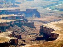As gargantas do parque nacional de Canyonland Fotos de Stock Royalty Free