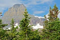 As geleiras intemporais colocam ainda congelado nas montanhas no parque nacional de geleira Fotos de Stock