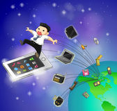 As gerações da tecnologia da TI estão movendo-se para jejuar (vecto Imagem de Stock Royalty Free