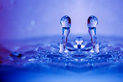 As gotas abstratas da água fecham-se acima fotos de stock royalty free
