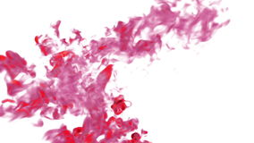 As gotas manchados de tinta, tinta vermelha aparafusam, pintura O volume efetua a tinta na água ou em emanações maciças no ar Vfx ilustração do vetor