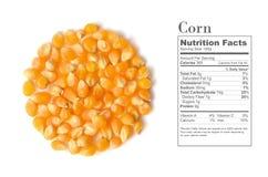 As grões do milho fecham-se acima Imagem de Stock