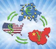 As grandes economias do mundo Imagens de Stock