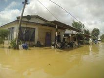 As grandes inundações bateram a cidade Fotos de Stock Royalty Free