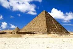 As grandes pirâmides egípcias Imagem de Stock