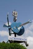 As guitarra mostram a junção de 61 e 49 estradas Fotografia de Stock Royalty Free
