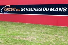 As 24 horas da entrada de Le Mans, França Imagem de Stock Royalty Free