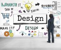 As ideias do projeto criam o conceito da visão do planeamento Imagem de Stock Royalty Free