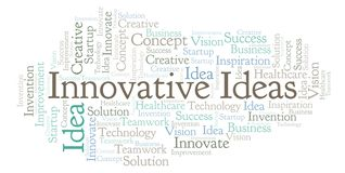 As ideias inovativas exprimem a nuvem, feita com texto somente ilustração royalty free