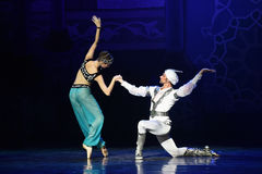"""As if in a dream- ballet """"One Thousand and One Nights"""" Royalty Free Stock Photography"""