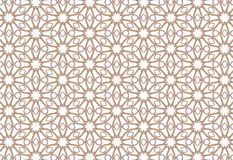 Simple geometric flowers. Wire feelings. Plain pattern of flowers stars and lozenges. Endless mandala. Brown red outline. You can paint yellow. Shining white Stock Photos