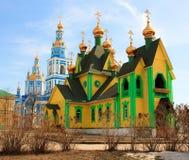 As igrejas de Christian Orthodox fotos de stock royalty free