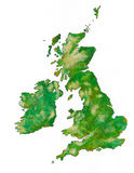 As ilhas britânicas com trajeto de grampeamento ilustração stock
