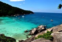 As ilhas de Similan tailândia lookout fotografia de stock royalty free