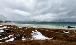 As ilhas Noruega de Lofoten Imagens de Stock Royalty Free