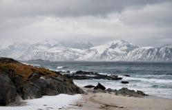 As ilhas Noruega de Lofoten foto de stock