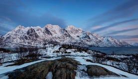 As ilhas Noruega de Lofoten Imagem de Stock