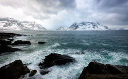 As ilhas Noruega de Lofoten imagens de stock