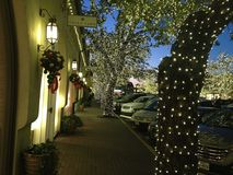 As iluminações do Natal em Dallas, Texas Imagem de Stock Royalty Free