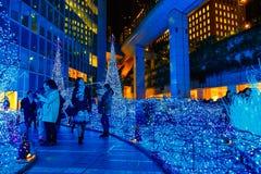 As iluminações iluminam-se acima no shopping do Caretta no distrito de Shiodome, Odaiba, Japão Fotos de Stock Royalty Free