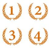 Coroas do louro como prêmios Imagens de Stock