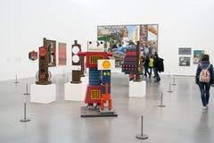 As instalações coletivas em Tate Modern famosa em Londres fotografia de stock royalty free