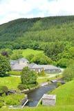 as instalações da fábrica de tratamento das águas residuais Imagens de Stock Royalty Free