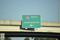 Jacksonville Florida Intersate. As of 2017 Jacksonville`s population was estimated to be 892,062. The Jacksonville metropolitan area has a population of 1,523 stock images